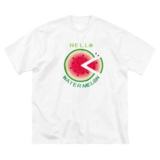 *suzuriDeMONYAAT*のCT36!スイカの輪切り Big silhouette T-shirts