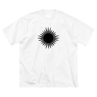 黒い太陽 Big silhouette T-shirts