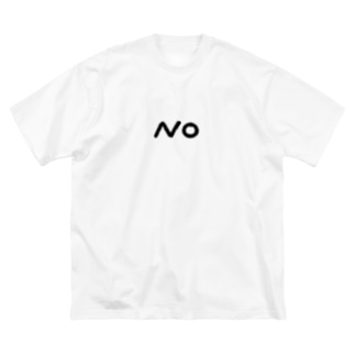 NO Big silhouette T-shirts