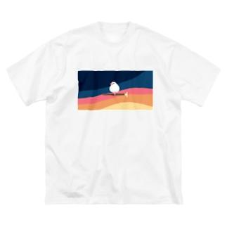 そろそろ文鳥が寝ます Big silhouette T-shirts