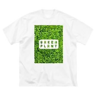 GREEN PLANT Big silhouette T-shirts
