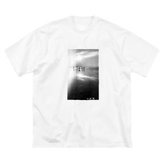 景色モノトーン Big silhouette T-shirts