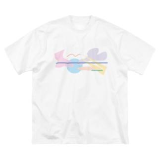 ゆるりら〜 Big silhouette T-shirts