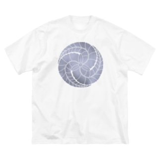 藤巴紋(藤色) Big silhouette T-shirts