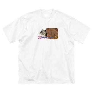 猫の人間化 Big silhouette T-shirts