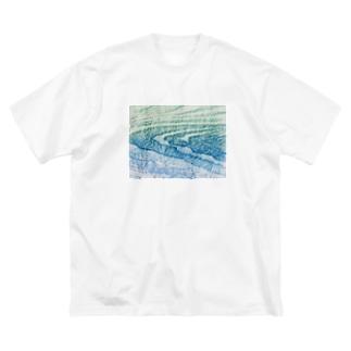 水面Ⅴ Big silhouette T-shirts
