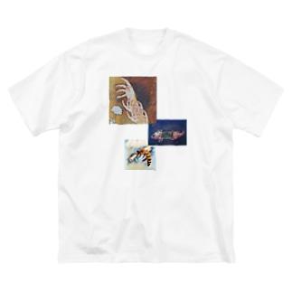 鬱の博覧 Big silhouette T-shirts