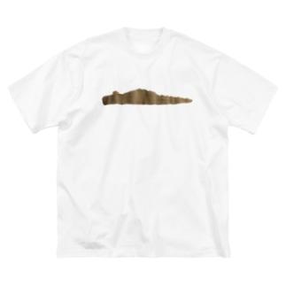 わにかツチノコのシルエット Big silhouette T-shirts