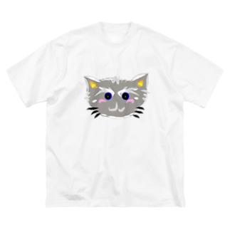 はいiroねこちゃん Big silhouette T-shirts
