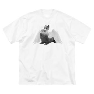 みそ Big silhouette T-shirts