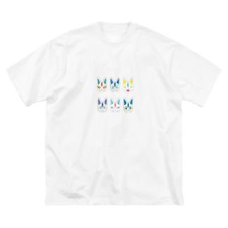 夏色狐面 Big silhouette T-shirts