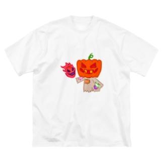 ゾワゾワらんたん Big silhouette T-shirts
