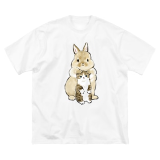 ちっこいねこ Big silhouette T-shirts