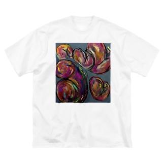 集まるお尻 Big silhouette T-shirts
