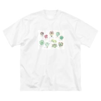 ゆんゆん多肉図鑑。 Big silhouette T-shirts