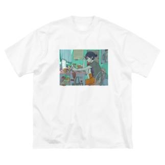 オンライン授業 Big silhouette T-shirts