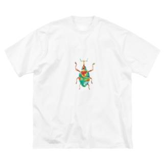 ゾウムシくん Big silhouette T-shirts