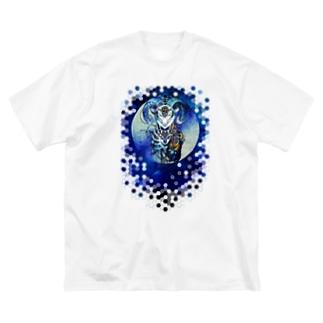 夢羊ver.2泥中のレプリカ(きらきらぼし) Big silhouette T-shirts