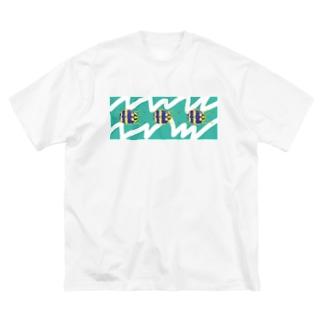 ギザギザずんぐりくん Big silhouette T-shirts