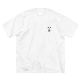 がりおじ Big silhouette T-shirts