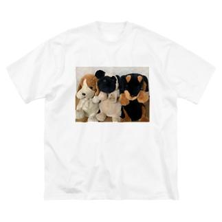 しーたん、ぶーたん、くーたん Big silhouette T-shirts