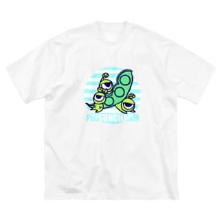 ミツマメ三兄弟 Big silhouette T-shirts