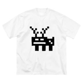 まあ確実にシカ Big silhouette T-shirts