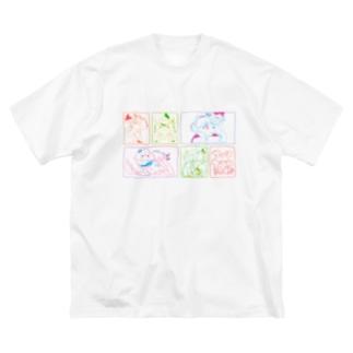 頭がズキッ!これって恋? Big silhouette T-shirts