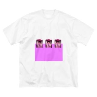 エクスカリバア少女シャツ Big silhouette T-shirts