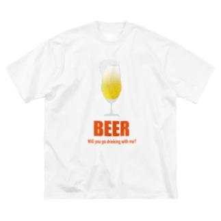 一緒に呑もう!Tシャツ Big silhouette T-shirts