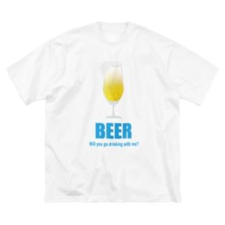 みんなのステッカーの一緒に呑みに行こう!Tシャツ Big silhouette T-shirts