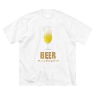 一緒に呑みに行こう!Tシャツ Big silhouette T-shirts