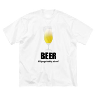 一緒に呑み行こう!Tシャツ Big silhouette T-shirts