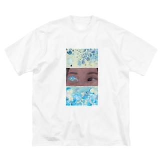 水 Big silhouette T-shirts