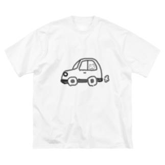 くるま。 Big silhouette T-shirts