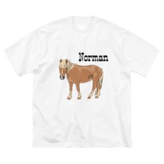 (公財)ハーモニィセンター チャリティグッズ ノーマン Big silhouette T-shirts
