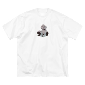 Suisui 切り抜き犬Ⅰ Big silhouette T-shirts
