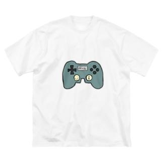 げームコントローラーくん Big silhouette T-shirts