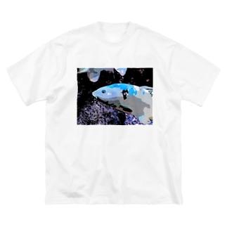 アオゴイ Big silhouette T-shirts