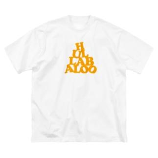 HULLABALOO(ゴーゴー・フラバルー) Big silhouette T-shirts