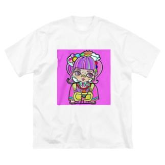 ピンクデコラちゃん Big silhouette T-shirts