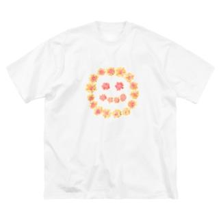 にこ Big silhouette T-shirts