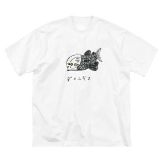 デメニギス Big silhouette T-shirts