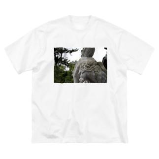 こまいぬぬ Big silhouette T-shirts