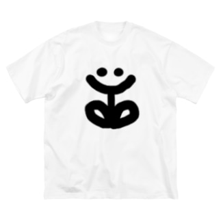 SMILE FLOWER Big silhouette T-shirts