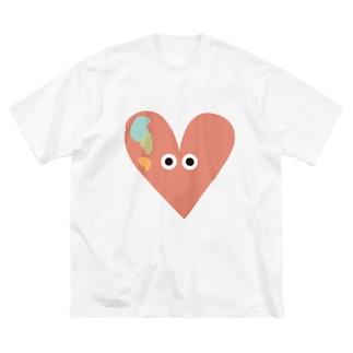 ALPHABET MONSTERS「♡」 Big silhouette T-shirts