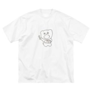 カレーくましゃん🍛 Big silhouette T-shirts