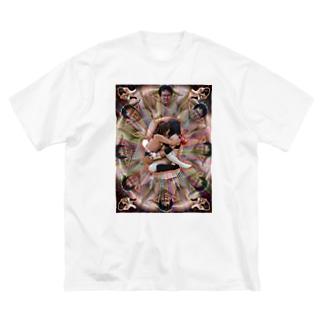 変態曼荼羅 Big silhouette T-shirts