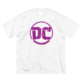 アメコミ大好きどっちにも読めるハイブリッドロゴ Big silhouette T-shirts