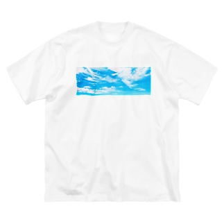 ふわふわ Big silhouette T-shirts